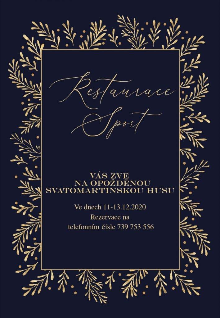 Svatomartinská husa, Restaurace Sport Drnovice Vyškov